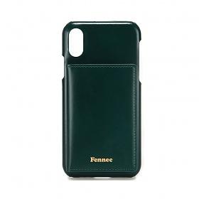 [페넥] FENNEC LEATHER iPHONE X/XS POCKET CASE - MOSS GREEN 레더 포켓 폰케이스