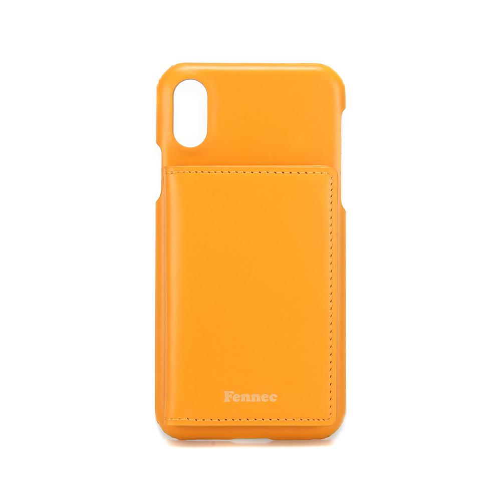 [페넥]FENNEC LEATHER iPHONE X/XS POCKET CASE - MANDAIRIN 레더 포켓 폰케이스