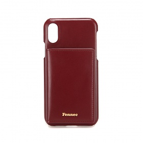 [페넥]FENNEC LEATHER iPHONE X/XS POCKET CASE - WINE 레더 포켓 폰케이스