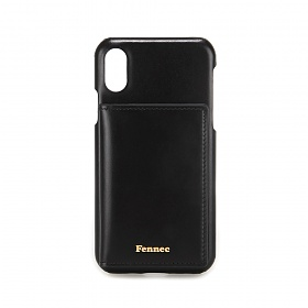 [페넥] FENNEC LEATHER iPHONE X/XS POCKET CASE - BLACK 레더 포켓 폰케이스
