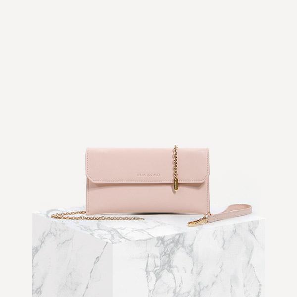 [브라비시모] 소가죽/아띠랑스 (Attirance) 지갑 - Light Pink