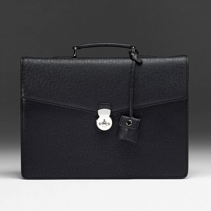 엠비지오네 로마클래식(ROMA CLASSIC) 서류가방 (블랙) 토트백 브리프케이스