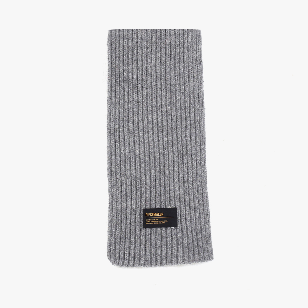 [피스메이커]PIECE MAKER - LAMBSWOOL 100 KNIT MUFFLER (GREY) 머플러 목도리