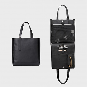 [기글]GIGL - Ver Saffiano Open & Close tote bag(Black)
