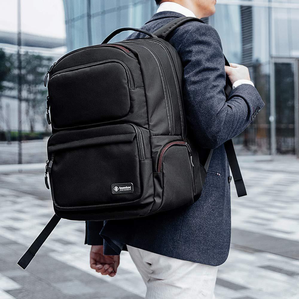 [탐탁]tomtoc A77-City Series 맥북 노트북 USB 백팩 블랙+케이블 증정 탐탁코리아 정품