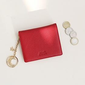 [디랩]D.LAB - [키링 증정] Vivienne Half Wallet - Red 지갑