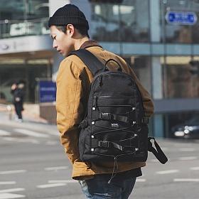 [에이치티엠엘]HTML - SK8 STRING BACKPACK (BLACK) 스케이트 스트링 백팩 학생 가방 노트북