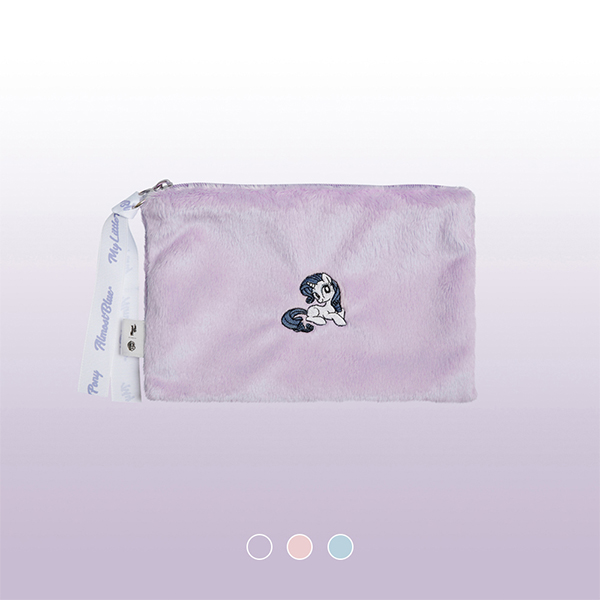 [얼모스트블루][MY LITTLE PONY X ALMOST BLUE] FUR POUCH 파우치