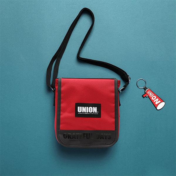 [유니온오브제]UNION COVER CROSS BAG - RED 크로스백
