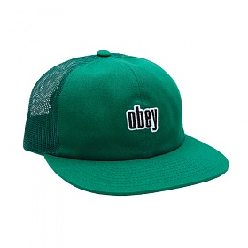 [오베이]OBEY - HIGHLAND 6 PANEL TRUCKER (GROWTH GREEN) 메쉬캡 스냅백 모자