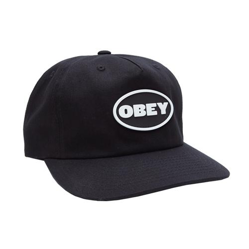 [오베이]OBEY - STRUGGLER STRAPBACK (BLACK) 스트랩백 볼캡 모자