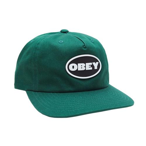 [오베이]OBEY - STRUGGLER STRAPBACK (DEEP GREEN) 스트랩백 볼캡 모자