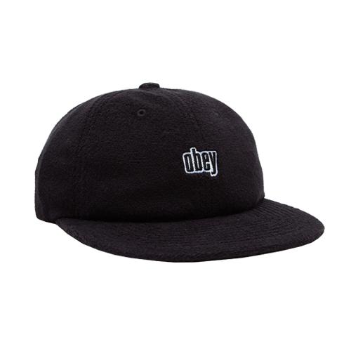 [오베이]OBEY - UNWIND 6 PANEL STRAPBACK (BLACK) 스트랩백 볼캡 모자