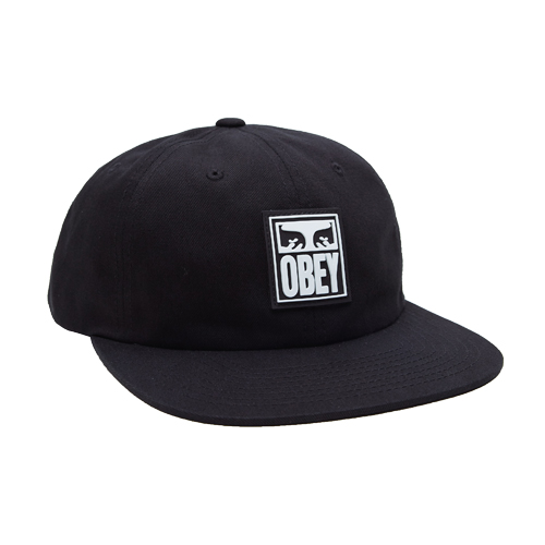 [오베이]OBEY - VANISH 6 PANEL SNAPBACK (BLACK) 스냅백 모자