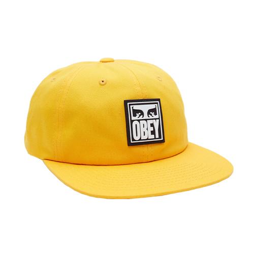 [오베이]OBEY - VANISH 6 PANEL SNAPBACK (ENERGY YELLOW) 스냅백 모자