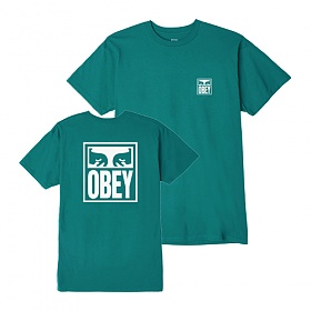 [오베이]OBEY - OBEY EYES ICON T-SHIRT (TEAL) 반팔티 티셔츠