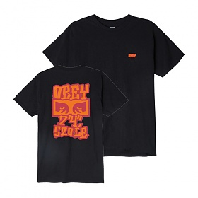 [오베이]OBEY - SEVEN FOUR T-SHIRT (BLACK) 반팔티 티셔츠
