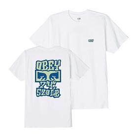 [오베이]OBEY - SEVEN FOUR T-SHIRT (WHITE) 반팔티 티셔츠