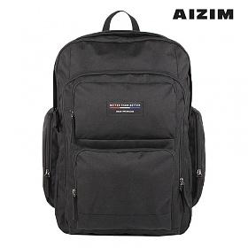 AIZIM 캐주얼 학생백팩 멀티포켓 스트릿 가방 ASK004LBK