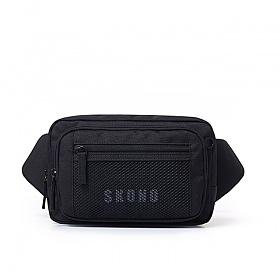 [스코노] SKONO POLY MESH WAISTBAG BLACK WB18WB0003BK 힙색 웨이스트백 여행가방