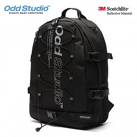 [오드스튜디오]ODD STUDIO - 플러쉬 스카치 레일 백팩 - BLACK