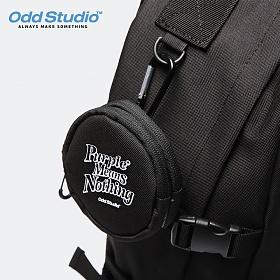 [오드스튜디오]ODD STUDIO - 오디디 2포켓 코인 파우치 - BLACK