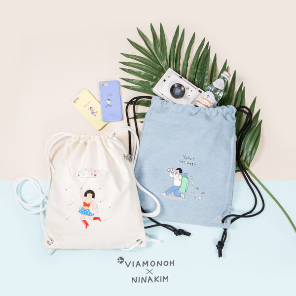 [비아모노] VIAMONOH X NINAKIM STRING BAG 2COLOR 에코백