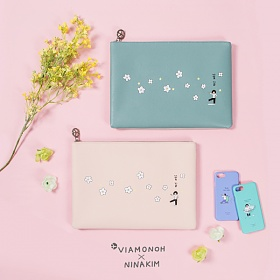 [비아모노] VIAMONOH X NINAKIM CLUTH 2COLOR 클러치백