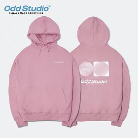 [오드스튜디오] 아티스틱 오디디 로고 후드 티셔츠 - PINK