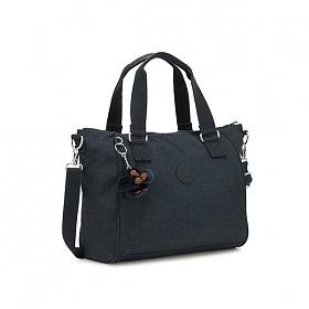 [키플링]KIPLING - AMIEL Medium handbag True Navy 핸드백 토트백 숄더백