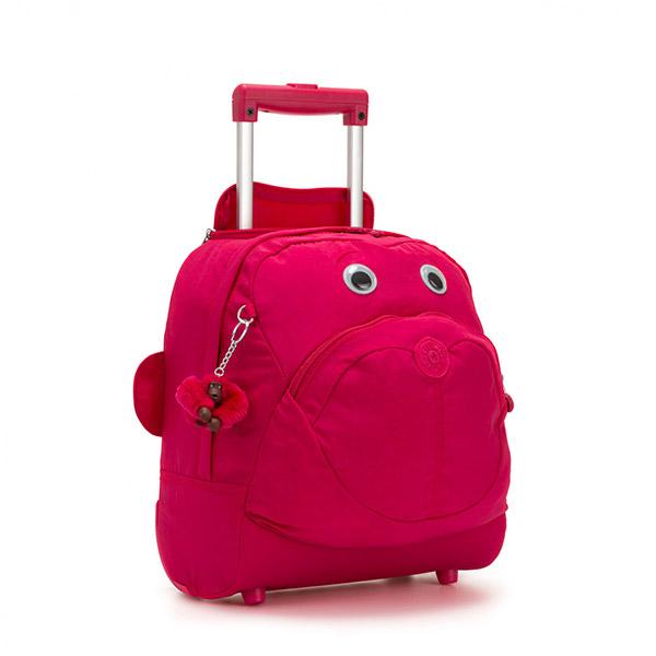 [키플링]KIPLING - BIG WHEELY Kids wheeled bag True Pink 키즈 롤링백 소프트 캐리어