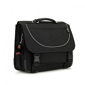 [키플링]KIPLING - PREPPY Medium schoolbag True Black 백팩