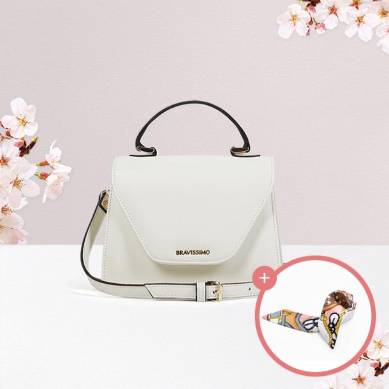 (★스카프증정)[브라비시모][서효림/유키카착용] 벚꽃슈아 (Choix) - Ivory 토트백 크로스백  여성가방