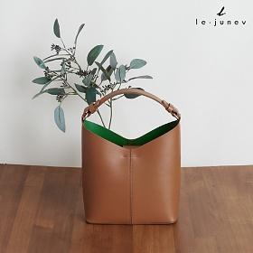 [리쥬네브]디버 토트백 L1814 카멜+그린