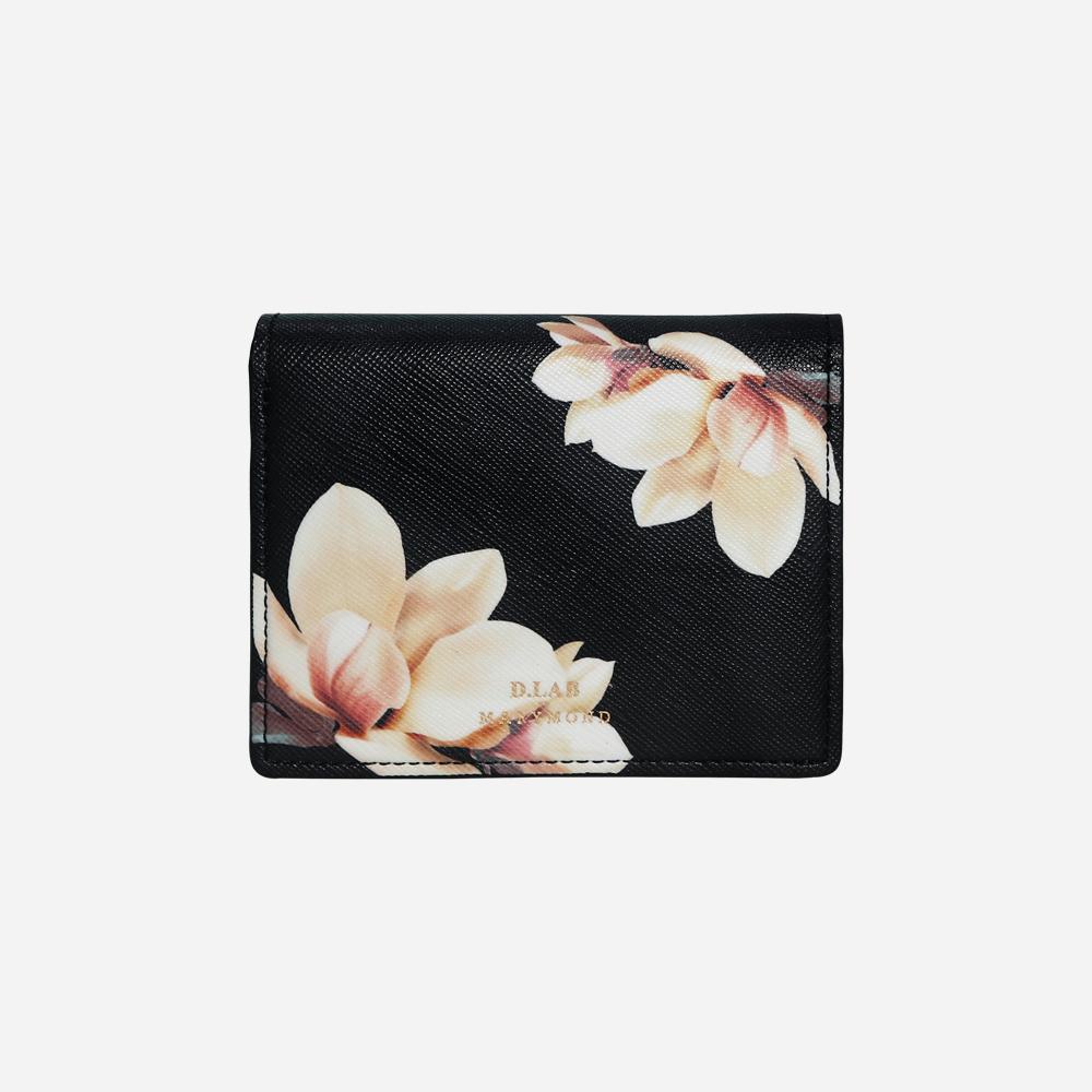 [디랩]D.LAB [키링증정] 디랩x마리몬드 명함반지갑 - 백목련(블랙)