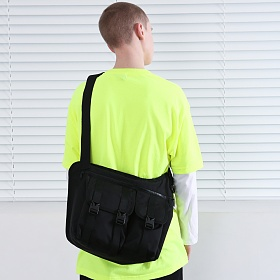[피스메이커]PIECE MAKER - THE SHADOW TECH MESSENGER BAG (BLACK) 메신저백 크로스백