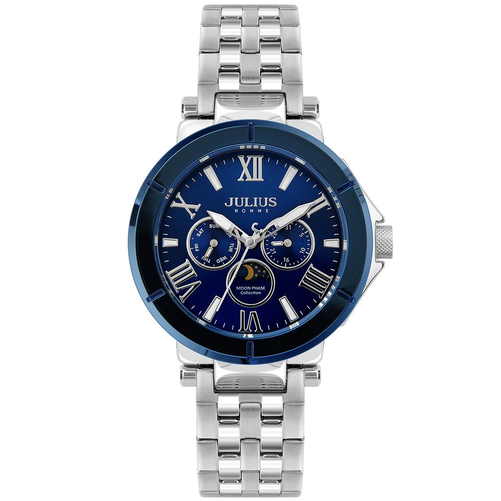 줄리어스옴므 - 포크102M 블루 남성 메탈손목시계