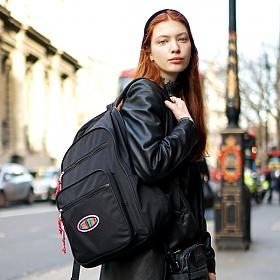 위글위글 - 백팩 Black 빅백팩 15인치 노트북 가방 (FRPOLBAP-001)