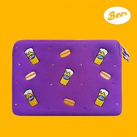 위글위글 - 노트북파우치 Purple 비어 13인치/15인치 랩탑 파우치 (WP-005)
