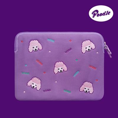 위글위글 - 노트북파우치 Purple 푸들 13인치/15인치 랩탑 파우치 (WP-007)