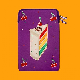 위글위글 - 노트북파우치 Purple 체리 케이크 13인치/15인치 랩탑 파우치 (WP-017)