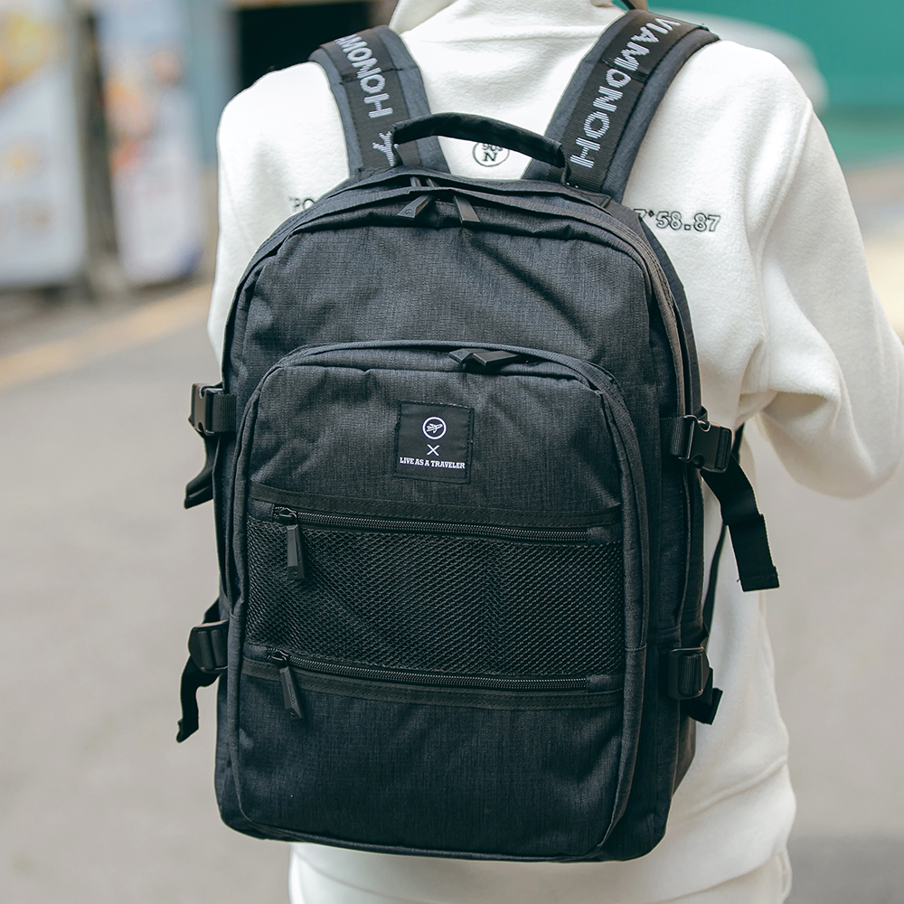 [비아모노] NEW-ROPE ONE POCKET BACKPACK (BLACK) 백팩