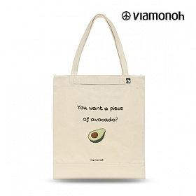 [비아모노] PLAYFUL CANVAS ECOBAG (SAND) 에코백