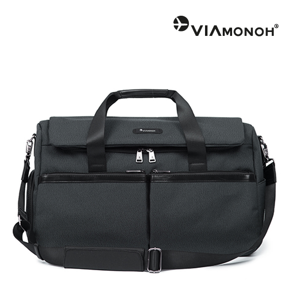 [비아모노] NOVEL BIG BOSTON BAG (BLACK)