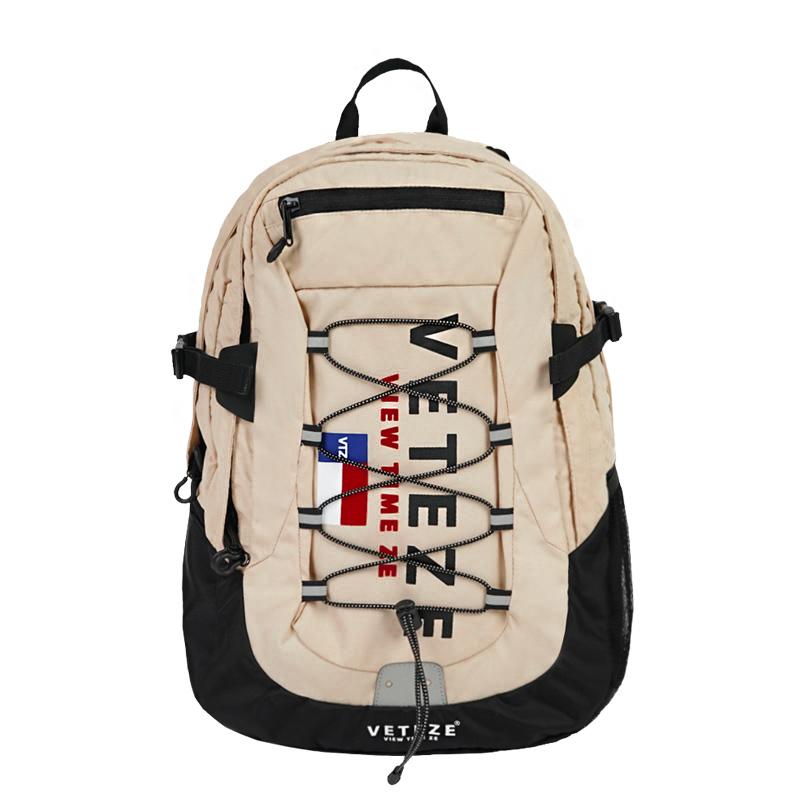 베테제 - Big Logo Backpack (beige) 빅로고 스트링 백팩 (베이지)