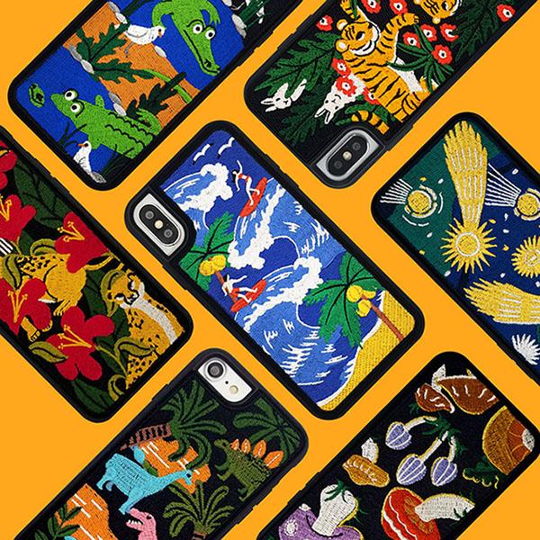 위글위글 - 자수케이스 휴대폰케이스 아이폰7/8 케이스 아이폰X/XS/XR 케이스 실리콘케이스