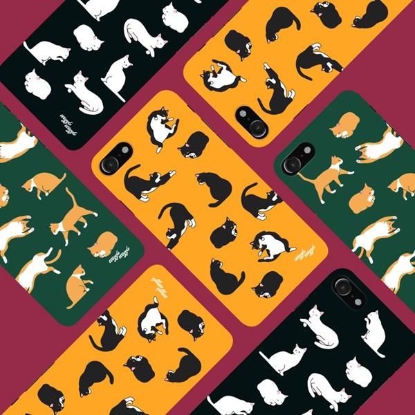 위글위글 - 메이커스 케이스 고양이패턴 케이스 주문제작 케이스 하드케이스 아이폰/갤럭시/LG 전기종 가능 케이스