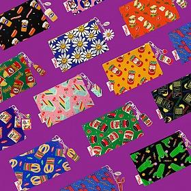 위글위글 - 파우치+키링SET 면파우치 화장품 파우치 패턴파우치