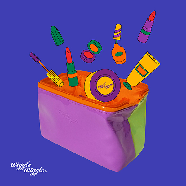 위글위글 - 에나멜 파우치 화장품 파우치 메이크업파우치 여행용파우치