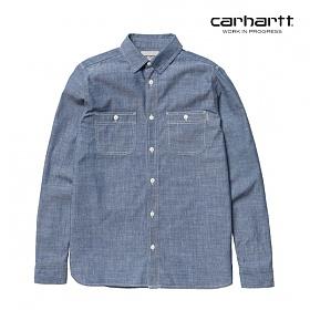 [칼하트WIP] CARHARTT WIP - L/S Clink Shirt (Blue) 클링크 데님셔츠 긴팔남방 셔츠